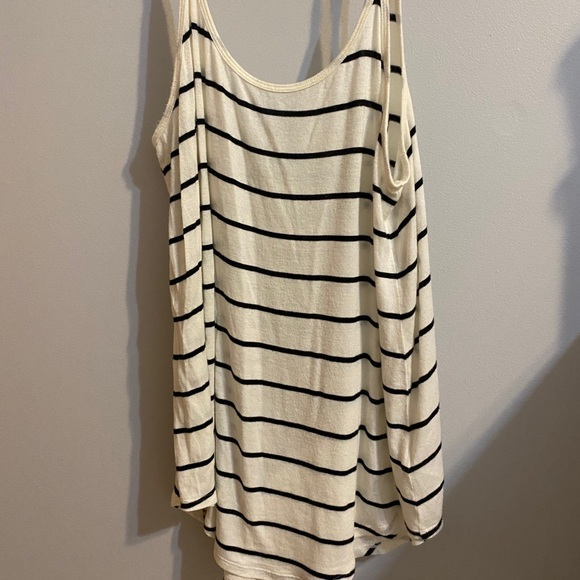 Simple black and white striped tank